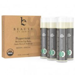 Organic Peppermint Lip Balm white